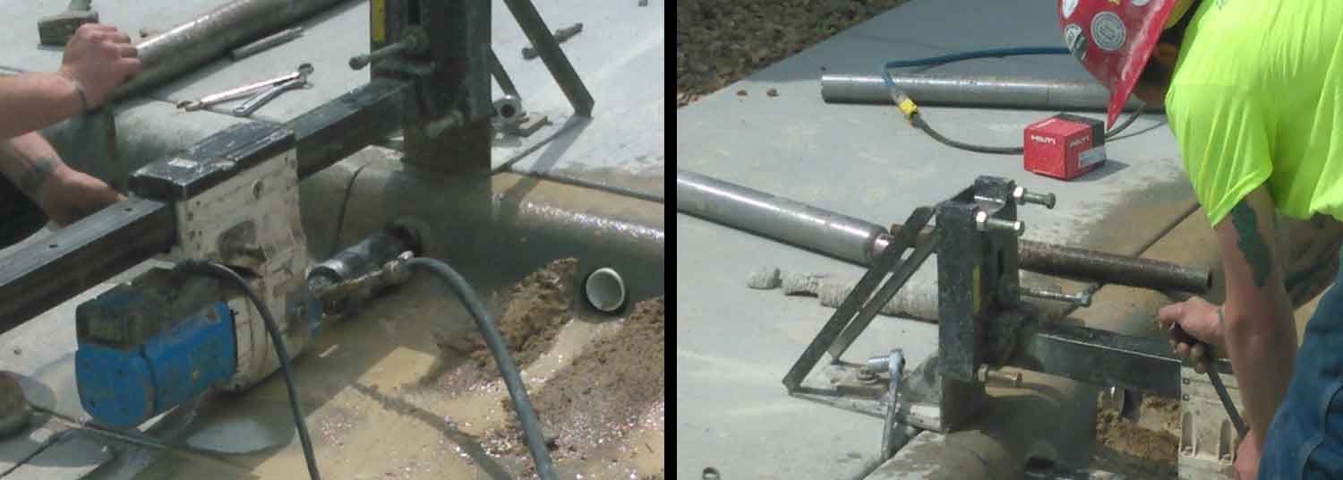 Concrete core drilling picture