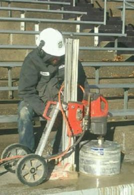 Core drilling at KSU stadium